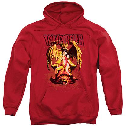 Vampirella Bat Throne Red Pullover Hoodie