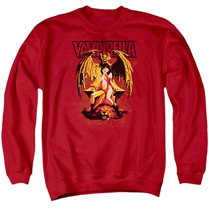 Vampirella Bat Throne Red Crew Neck Sweatshirt