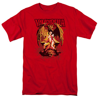 Vampirella Bat Throne Red T-Shirt