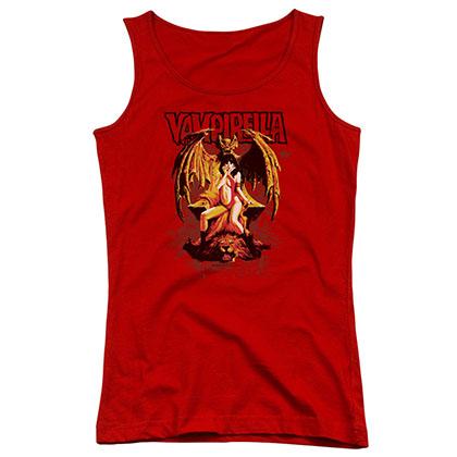 Vampirella Bat Throne Red Juniors Tank Top