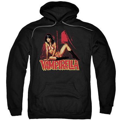 Vampirella In A Dark Room Black Pullover Hoodie