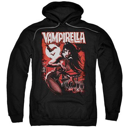 Vampirella Taking The Town Black Pullover Hoodie