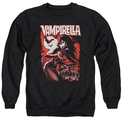 Vampirella Taking The Town Black Crew Neck Sweatshirt