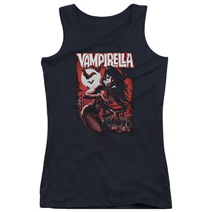 Vampirella Taking The Town Black Juniors Tank Top