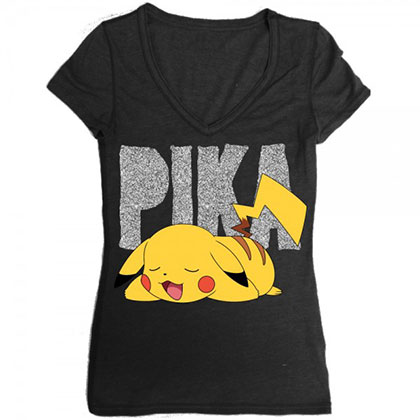 Pokemon Pikachu Sleeping Women's V-Neck