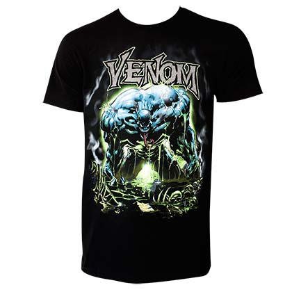 Spiderman Venom Men's Black Envenomated T-Shirt