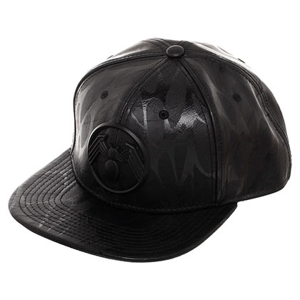 Venom Logo Black on Black Snapback Hat