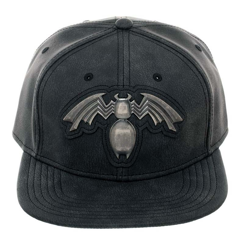 Venom Metal Distressed Black Snapback Hat | SuperheroDen.com