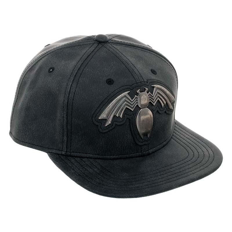 1d0ec26a4f3 Venom Metal Distressed Black Snapback Hat
