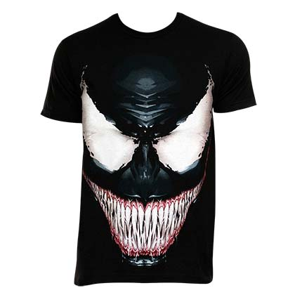 Venom Men's Black Sinister Smile T-Shirt