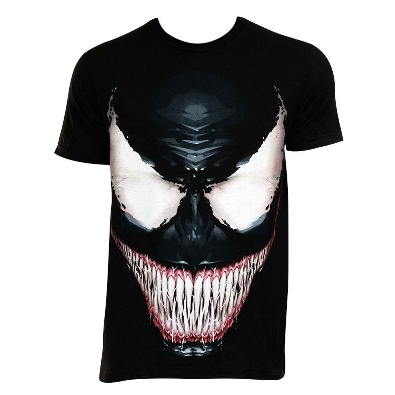 Venom Men's Black Sinister Smile T-Shirt