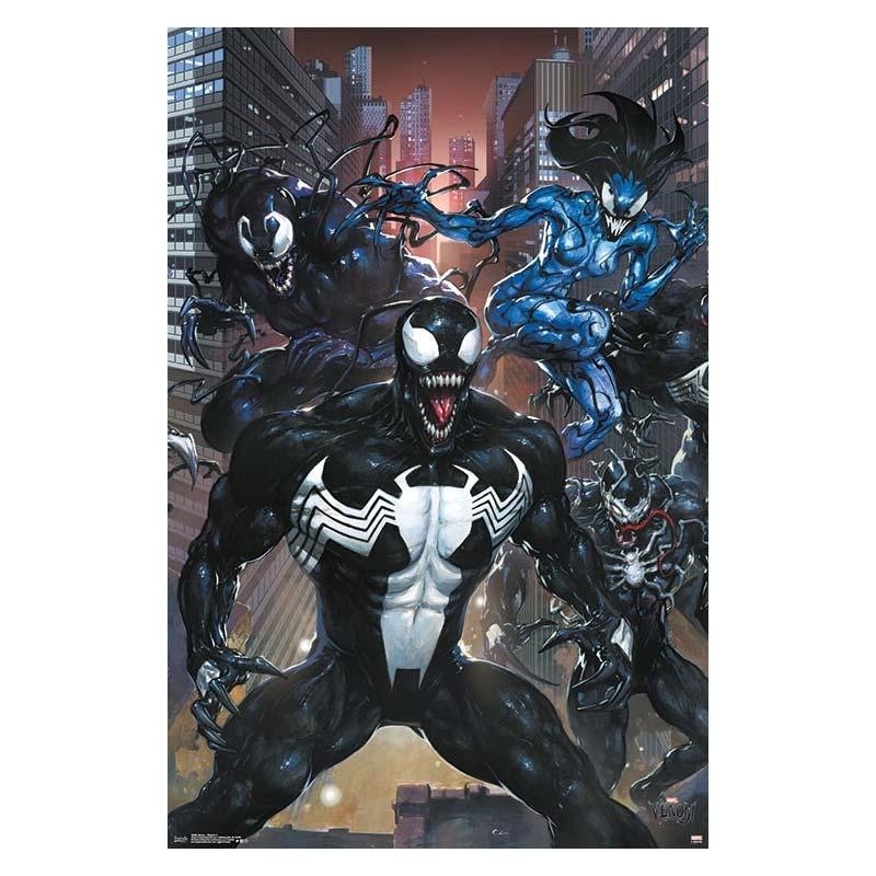Marvel Venom Superhero Villain Triptych Poster