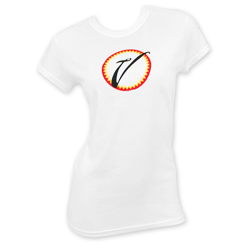 Victoria White Badge Logo Women's Tee Shirt