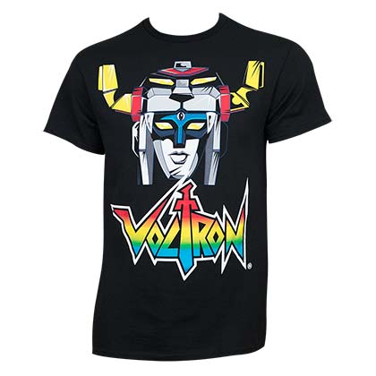 Voltron Head Black Shirt