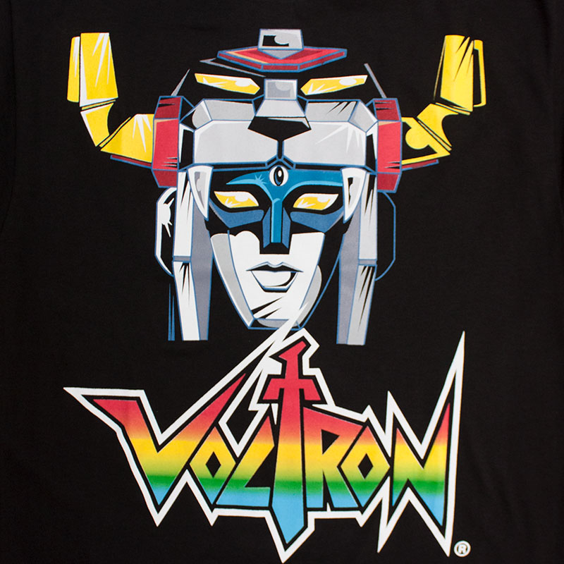 Voltron Form The Head Black Tee Shirt