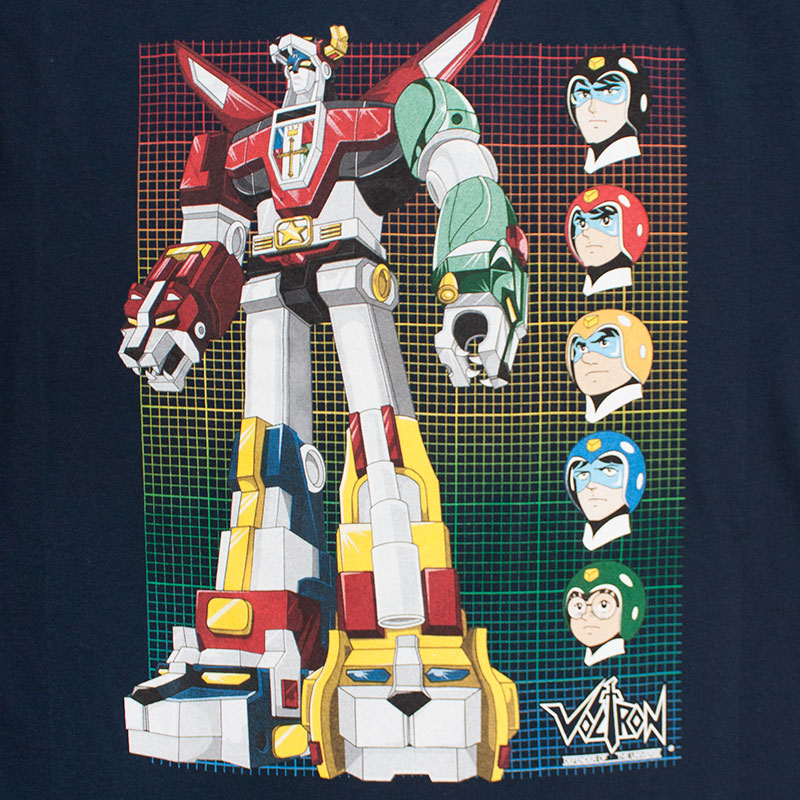 Voltron Defender Of The Universe Grid Tee Shirt
