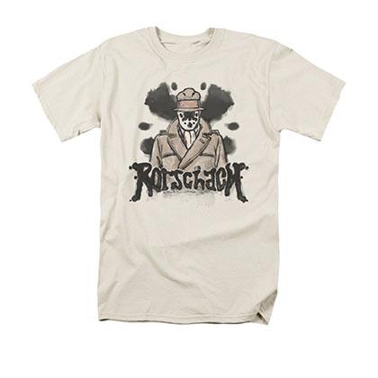 Watchmen Rorschach Ink Blot Off White T-Shirt