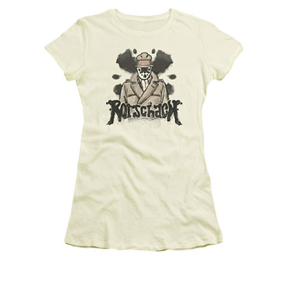 Watchmen Rorschach Ink Blots Off White Juniors T-Shirt