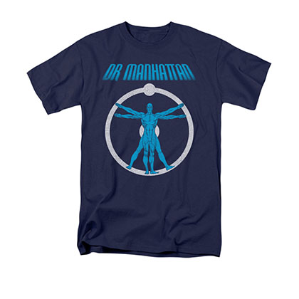 Watchmen Dr. Manhattan Anatomy Blue T-Shirt
