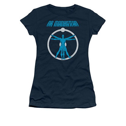 Watchmen Dr. Manhattan Blue Juniors T-Shirt