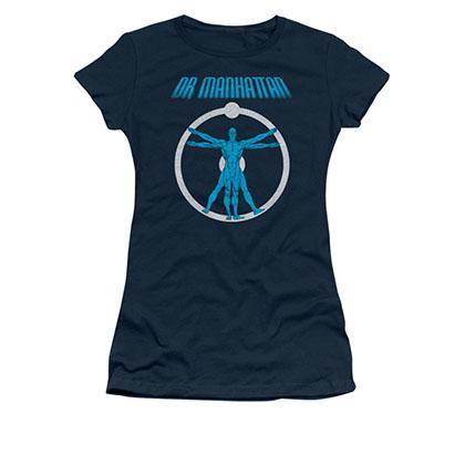 Watchmen Dr. Manhattan Blue Juniors T-Shirt