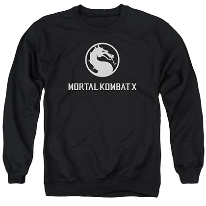 Mortal Kombat X Dragon Logo Black Crew Neck Sweatshirt