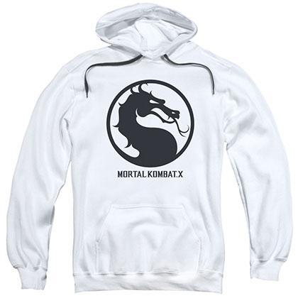 Mortal Kombat X Seal White Pullover Hoodie