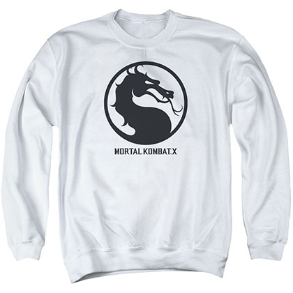Mortal Kombat X Seal White Crew Neck Sweatshirt