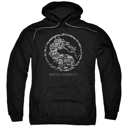 Mortal Kombat X Stone Seal Black Pullover Hoodie