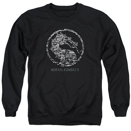 Mortal Kombat X Stone Seal Black Crew Neck Sweatshirt