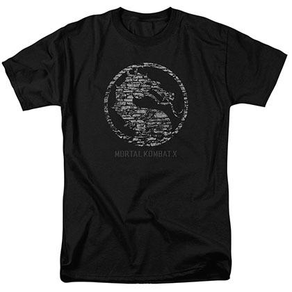 Mortal Kombat X Stone Seal Black T-Shirt