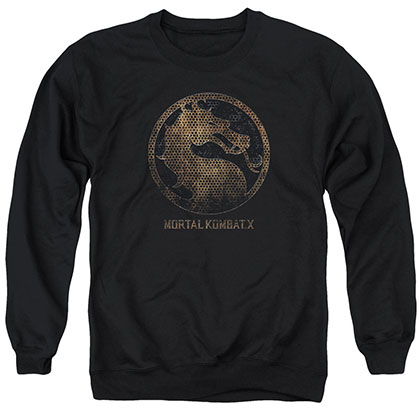 Mortal Kombat X Metal Seal Black Crew Neck Sweatshirt