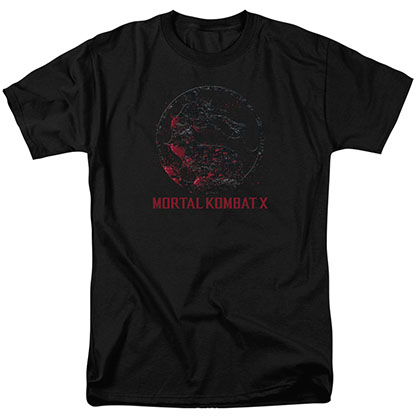 Mortal Kombat X Bloody Seal Black T-Shirt