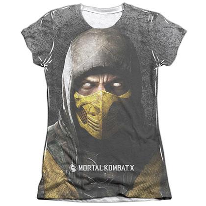 Mortal Kombat X Finish Him White Juniors Sublimation T-Shirt