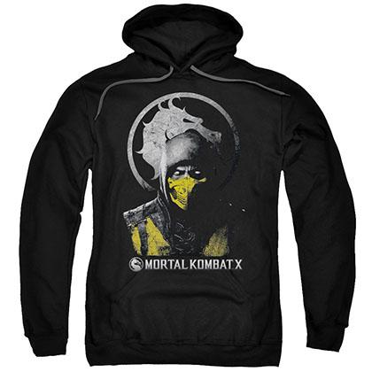 Mortal Kombat X Scorpion Bust Black Pullover Hoodie