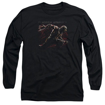 Mortal Kombat X Scorpion Lunge Black Long Sleeve T-Shirt