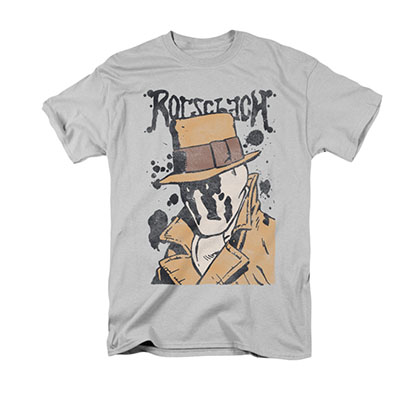Watchmen Rorschach Splatter Gray T-Shirt