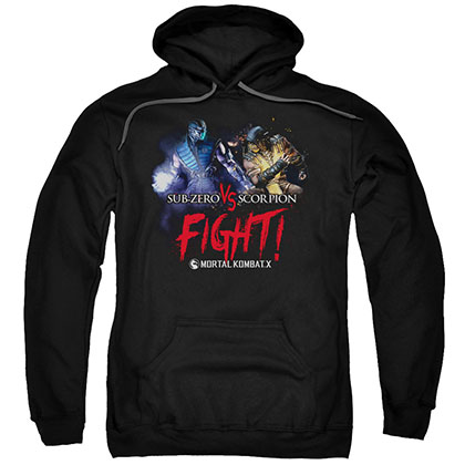 Mortal Kombat X Fight Black Pullover Hoodie