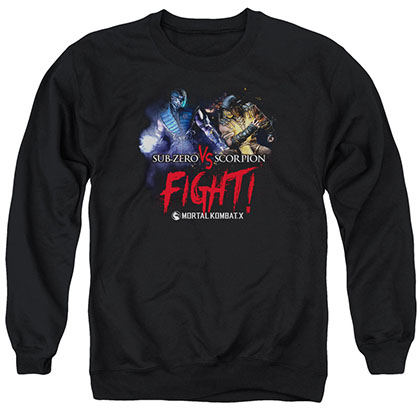Mortal Kombat X Fight Black Crew Neck Sweatshirt