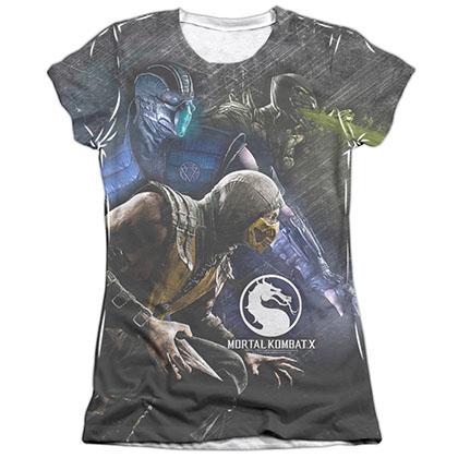 Mortal Kombat X Three Of A Kind White Juniors Sublimation T-Shirt