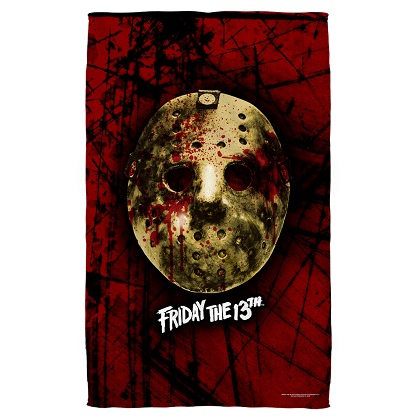 Friday the 13th Mask Beach Towel