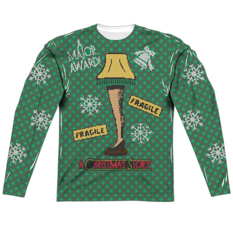 A Christmas Story Faux Ugly Sweater Long Sleeve Tshirt ...