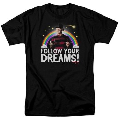 Nightmare On Elm Street Follow Your Dreams Rainbow Tshirt