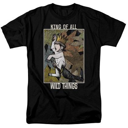 Where The Wild Things Are King Max Black Tshirt