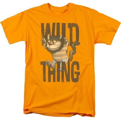 Where The Wild Things Are Logo Orange Tshirt