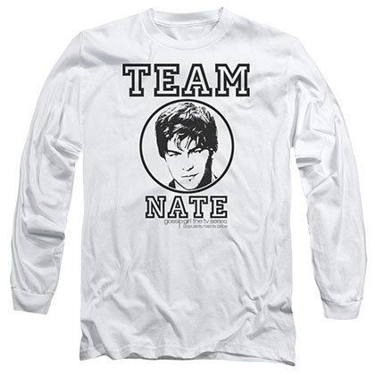 Gossip Girl Team Nate White Long Sleeve T-Shirt