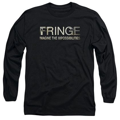 Fringe Logo Black Long Sleeve T-Shirt