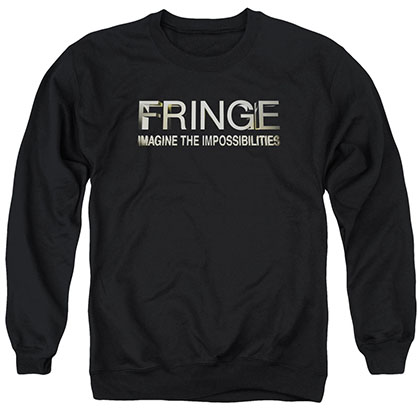 Fringe Logo Black Crew Neck Sweatshirt