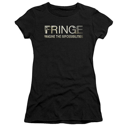 Fringe Logo Black Juniors T-Shirt
