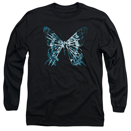 Fringe Butterfly Glyph Black Long Sleeve T-Shirt